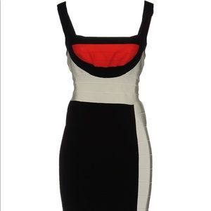 Herve Leger Parker Color Block Bandage Dress Sz S